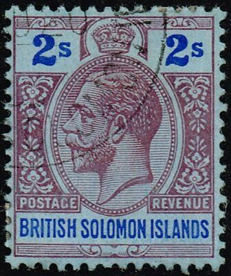 British Solomon Islands 1914 2s. purple & blue / blue, used (SG#34)