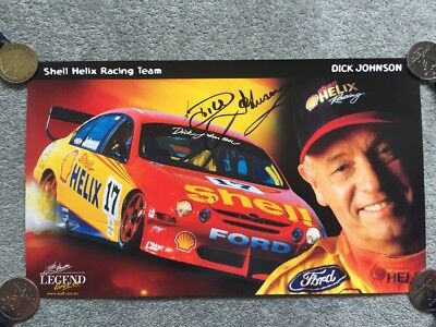 Dick Johnson: The Legend Lives On - Signed Poster - Shell Helix Racing