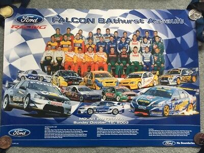 Falcon BAthurst Assault - Mount Panorama October 2003 - V8 Supercars Poster