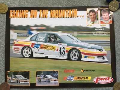Paul Weel & Neal Bates - Thermal Products - Poster - V8 Supercars EL Falcon