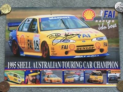 Dick Johnson / Bowe - Signed Poster - 1995 Shell Australian Touring Car Champion