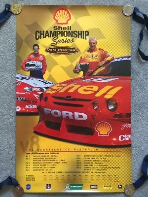 Shell Championship Series - V8 Supercars 1999 Poster - Dick Johnson / Lowndes