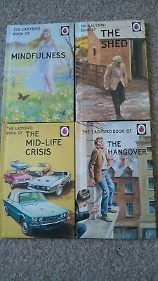 Set of 4 Ladybird books for adults christmas gifts him her