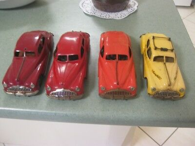 Lot of 4 x Triang Minic Clockwork Cars for Parts or Restore