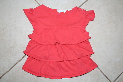 Country Road Baby Girls Sz 0-3  Mths  Ruffle Layer Top Vg Cond. Clearance Sale