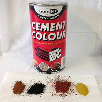 Bond It Cement Dye Pigment Concrete Colour Powder Render Mortar Pointing 1kg