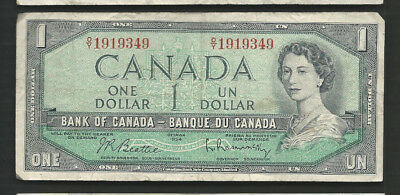 Canada 1954 (1961-72) 1 Dollar P 74b Circulated