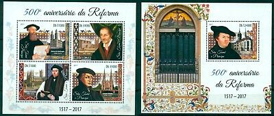 Martin Luther Personalities of Reformation Protestantism Sao Tome MNH stamp set
