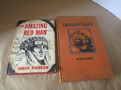 The Amazing Red Man 1960 Autographed Mack Parker  + Indiancraft W.Ben.Hunt