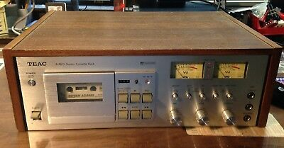 TEAC A-480 Dolby Stereo Cassette deck CrO2 MPX MIC inputs NEW DRIVE BELT & tapes