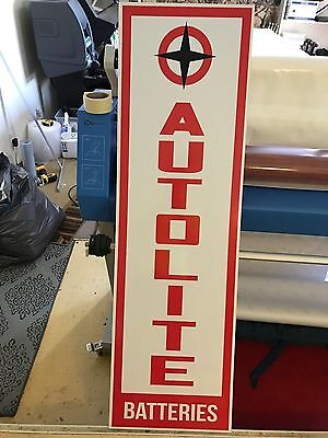 AUTOLITE BATTERIES SIGN 5FT Very Large VINTAGE LOOK GAS OIL AUTO ADVERTISING