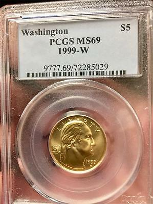 1999-W $5 George Washington Gold MS69 PCGS