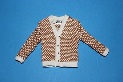 "Barbie Ken Doll Fashion Park Items ""cardigan Sweater"" Vintage  1963 '60"