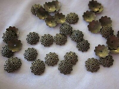 20 Bronze Coloured 12mm Bead Caps #bc294 Combine Postage-See Listing