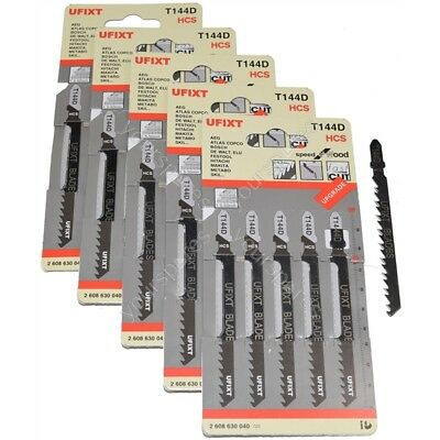 25 x Jigsaw Blades T144D High Speed Wood Cutting HCS Fits Black & Decker