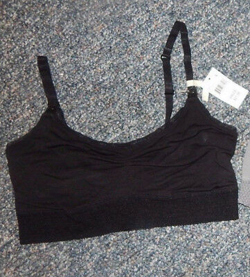 "Size Large--Motherhood Brand Maternity ""bella"" Black Sleep Bra--Excellent"