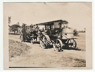 NICE Old Orig Photo - HUBER Steam Tractor - ca 1910 Upstate NY