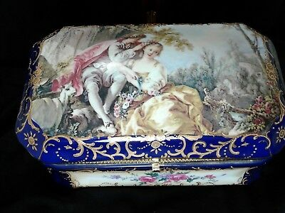 Large Porcelain Jewelry Casket Special Free Shipping