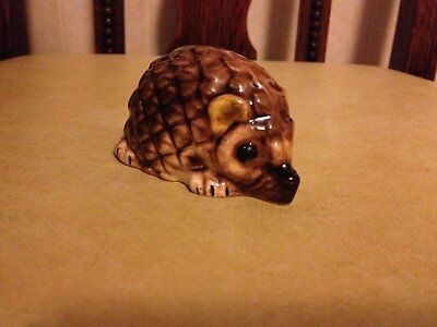 Handpainted Welsh pottery ceramic hedgehog ornament for the hedgehog collector