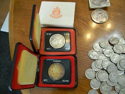 Lot of 2 Coins, CANADIAN  SILVER dollars.