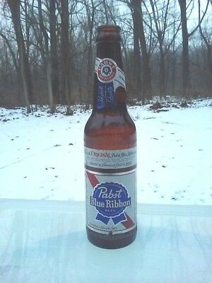 Pabst Blue Ribbon Beer Glass Bottle Vintage 1960s
