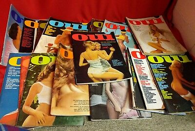 Vintage Lot of 18 Oui Magazines 1970's - Including #2 + #3 - Also RARE Oct 73