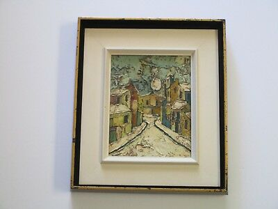 Jean Claude Mayodon  Painting Landscape French School Of Paris Expressionism Vtg