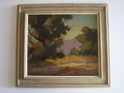 Antique Early California Impressionist Painting Mystery Artist Buttery Oil 1930