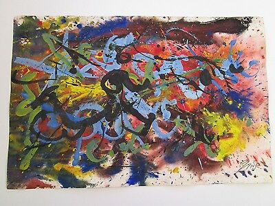 Grise Chicago Art Institute Abstract Expressionist Painting De Kooning Style Mod