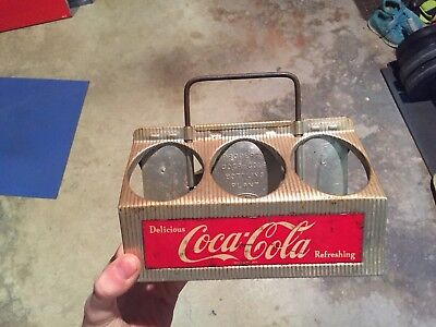 Vintage Reynolds Aluminum Coca Cola 6 Pack Bottle Carrier Coke Metal Caddy