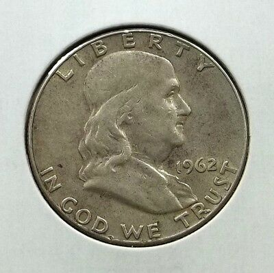 1962-D Franklin Half Dollar Silver Coin - Circulated - Denver Mint - #f04