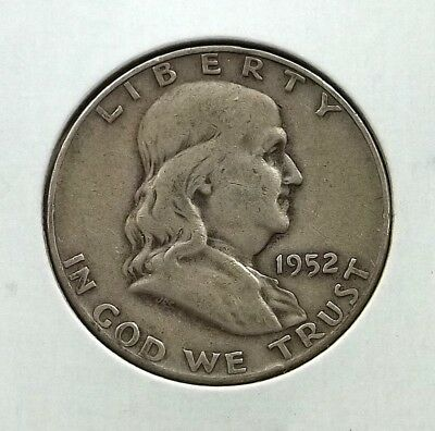 1952-D Franklin Half Dollar Silver Coin - Circulated - Denver Mint - #f05