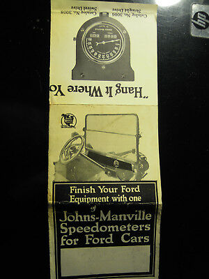 Johns-Manville Speedometers for Ford Cars