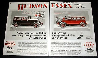1931 Old Magazine Print Ad, Hudson Essex Invades A New Field, In-Built Riding!