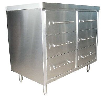 Stainless Steel Drawer Cabinet- CABDRAW6 H900xL1000xD610mm