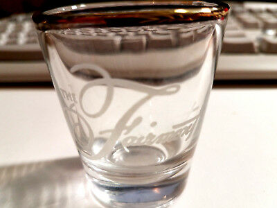 The Fairmont San Francisco Hotel Vintage GOLD RIMMED SHOT GLASS GREAT STOCKING