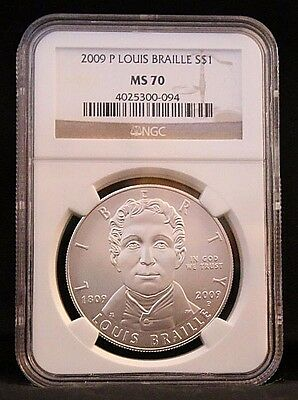 2009 P MS70 $1 Louis Braille (NGC Certified)