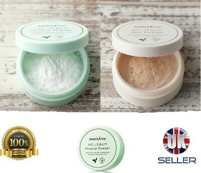 [Innisfree] NO SEBUM MINERAL / BLUR  LOOSE POWDER 5g oil control skin Face + UK
