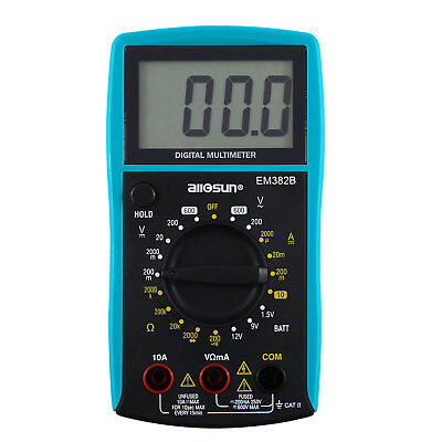 Compact Digital Multimeter CATII 250V Electric Test Large LCD Display 6 Function