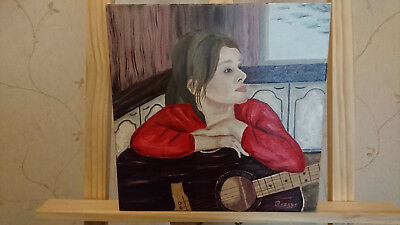 ORIGINAL Oil Painting on canvas Signed lady (sku-32)