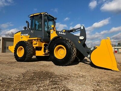 2015 John Deere 544K Articulated Rubber Tire Loader Cab AC 4x4 Wheel Tractor