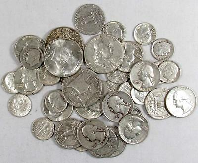 SILVER!!!! (1) ONE Troy Pound LB U.S. Mixed Silver Coins Lot No Junk Pre-1965!!!