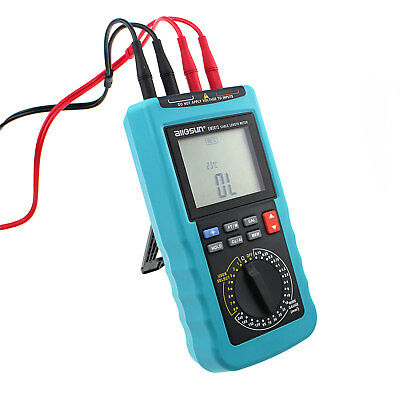 Digital Cable Resistance Tester Cable Wire Length Test Meter Up to 30KM/100000ft