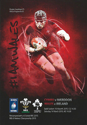 Wales v Ireland Championship Season for Ireland 2015 Cardiff RUGBY PROGRAMME