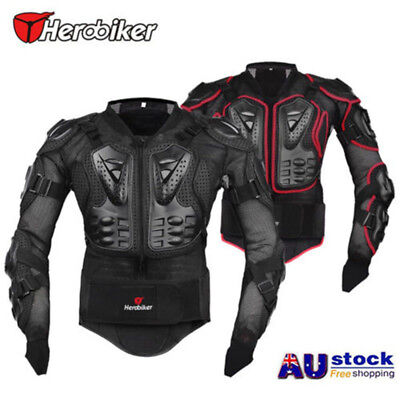 Motorcycle Full Body Armour Jacket Spine Chest Shoulder Protector Riding Gear