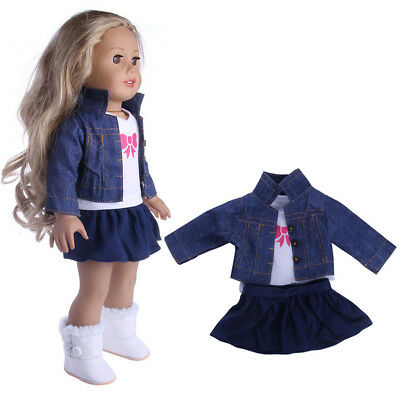 Outfit Dress Jeans Clothes for 18'' American Girl Our Generation My Life Doll