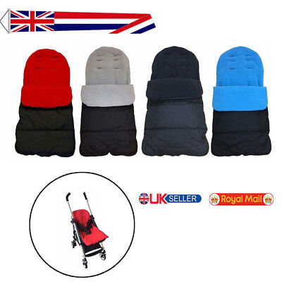 DELUXE BABY BUGGY PRAM UNIVERSAL FOOT MUFF COSY TOES STROLLER APRON LINER UK cx
