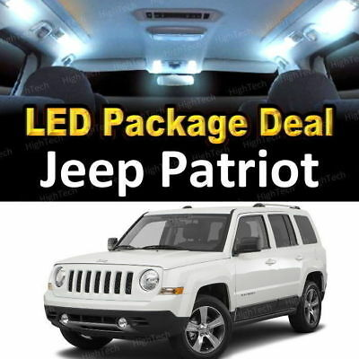 FOR 2007 - 2017 2018 Jeep Patriot LED Lights Interior Package Kit WHITE 6PCS
