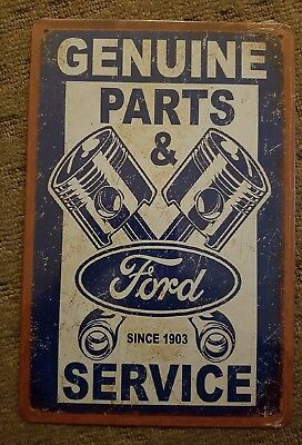 Ford Genuine Parts Service tin sign. Mancave Signs Aussie Seller