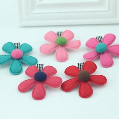 2Pcs Cute Kids Girls Baby Flower Hair Clip Hairpin Barrette Hair Accessories